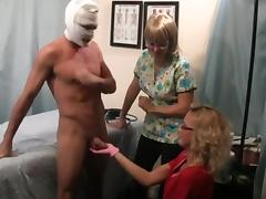 exam provides a prostate massage and cock milking WF