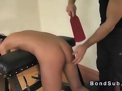 Bent over ### paddled and throat banged