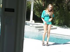 Panties and heels tease with sexy cocksucking pornstar Ella Milano