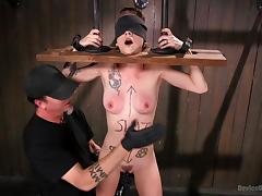 tattooed slave tortured by merciless executor
