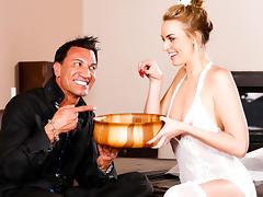 Keira Nicole, Marco Banderas in Birthday Massage Scene