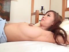 Cutest Japanese girl in the wedding dress banged deep and hard
