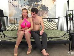 Britney Amber cums over and over on his hard shaft
