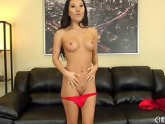 Asa Akira gets out her toy and puts on a hot cam show