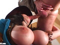 Sheriff Swallows - Big Natural Tits, Gokkun Cum Drinking
