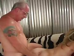 young blonde with old fart