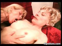 Two horny lesbian mature sluts having