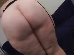 Chubby Blonde Taking On 2 Dicks