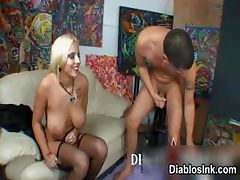 Big Boobs tattoed body slut blonde part4
