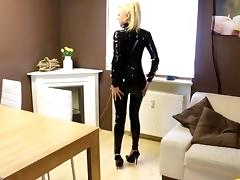 Sexy in Black Catsuit