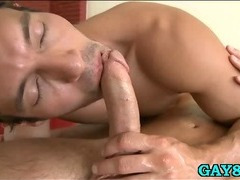 Sucking firm meaty cock