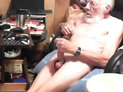 Grandpa cum on cam 10