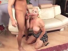Blonde milf cougar fucks youger guy