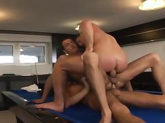 Pool table threesome