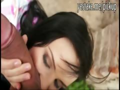Brunette euro girl blows and gets fucked on castle tourroute