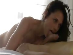 brutally sweet brunette fucking with me