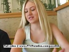 Alison tender teen blonde girl