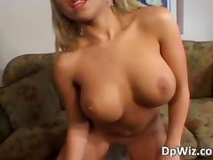 Gorgeous blonde honey gets pussy and ass