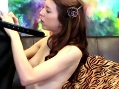 Nymhomaniac eats cum at CastingCouchX