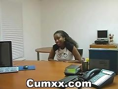 Sexy Black Sucking And Fucking In Office