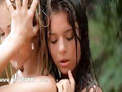 luxury girls in the rain
