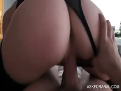 Close up with sexy amateur riding penis