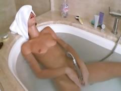 Petite russian girl in the amazing bath