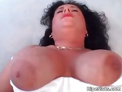 Busty horny mature brunette gives part4