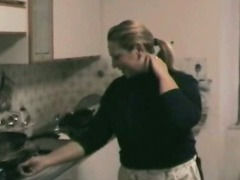 In The Kitchen Blowjob With BBW Italian Amateur