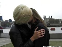 After hot public blowjob blonde slut
