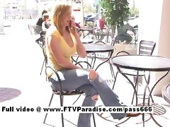 Candace stunning busty blonde teen public flashing