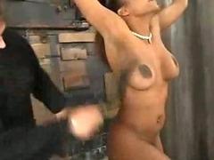 Sinnamon Love bound forced orgasms