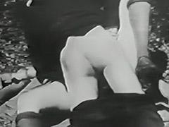 Mustached Boy Fucks 2 Young Petite Girls 1910