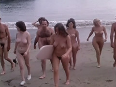 Natural Nudist Girls at a Wild Beach 1960