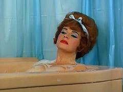 Redheaded Pornstar Takes a Hot Bath 1960