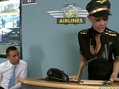 Delicious Brunette Chanel Preston Gets Fucked In a Stewardess Uniform
