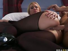 Gorgeous Anal Blonde Alanah Rae Sucks and Fucks Keiran Lee's Big Cock