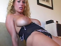 Smothered by a big breasted blonde