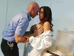 Busty Scientist Ariella Ferrera Loves Men In Uniform