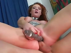 Audrey Hollander on leash anally fucked