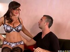 Lisa Ann seduction in blouse
