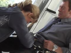 Sporty Blonde MILF Jessica Drake Rides a Big Cock Cowgirl Style