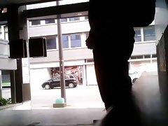 jerking behind windows