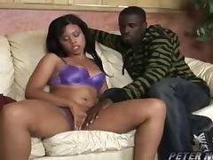 Booty ebony babe Olivia Winters gets black balled