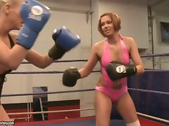 Pussy Eating Battle With Lesbian Fighters