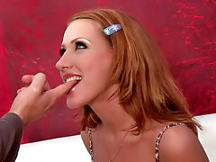 Redhead Nataly shows you how to suck cock
