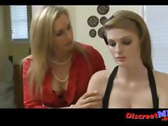 Two lesbian MILFs seduce teen girl part 1 of 2
