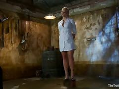 Holly Heart the blonde doctor get chained and pounded