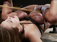Trina Michaels gets whipped and fucked with a machine