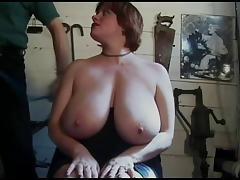 A Bit More Rusty Big Tit Torture!